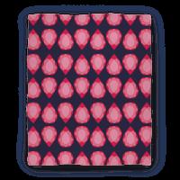 Pink Teardrop Gem Pattern Blanket