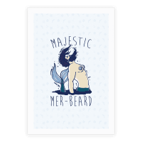 Majestic Mer-Beard Poster