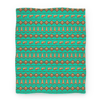 Dicks and Butts Ugly Sweater Pattern Blanket