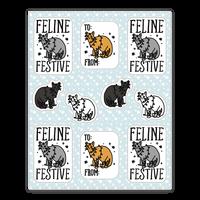 Feline Festive Sticker Sheet Sticker