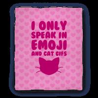 I Only Speak In Emoji And Cat Gifs Blanket