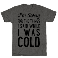 I'm Sorry For The Things I Said While I Was Cold Tee