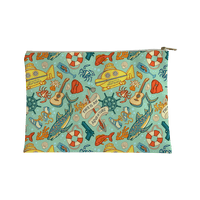 Life Aquatic Nautical Pattern Accessorybag