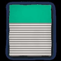 Green Color Block Stripe Blanket