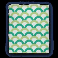 Green Scale Pattern Blanket