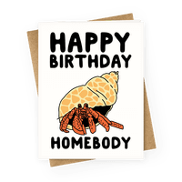 Happy Birthday Homebody Greetingcard
