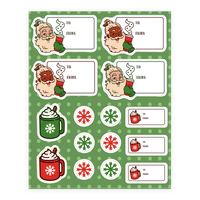 Basic Bitch Santa Gift Tag