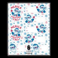 Merica Christmas Gift Tag