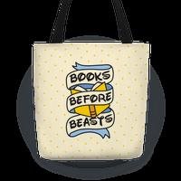 Books Before Beasts Tote