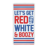 Red White & Boozy Beach Towel