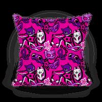 Persona Masks Pattern (Pink) Pillow
