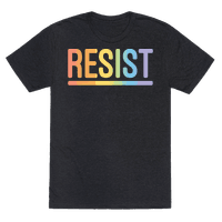 Rainbow Resist White Print Tee