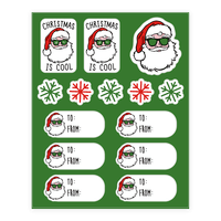 Christmas Is Cool Gift Tags Sticker