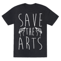 Save The Arts White Print