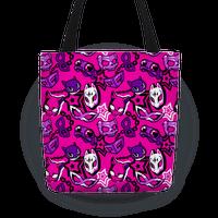 Persona Masks Pattern (Pink) Tote