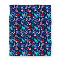 Do Androids Dream Sci Fi Pattern Blanket