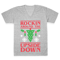 Rockin Around The Upside Down Vneck