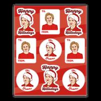 Happy Hilladays Sticker Sheet Sticker