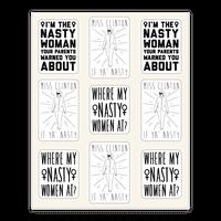 Miss Clinton If Ya' Nasty Sticker Sheet Sticker