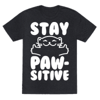 Stay Pawsitive White Print