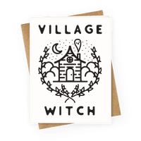Village Witch Greetingcard