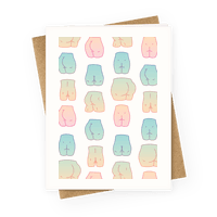 Kawaii Pastel Butt Pattern Greetingcard