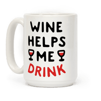 Wine Helps Me Drink Mug
