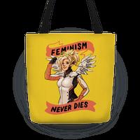 Feminism Never Dies Mercy Parody Tote