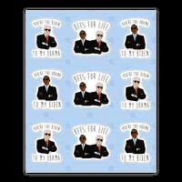Obama and Biden Bffs Sticker Sheet Sticker