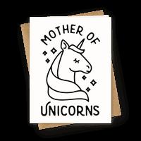 Mother Of Unicorns Greetingcard
