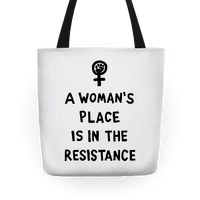 A Woman's Place Is In The Resistance Tote