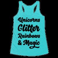 Unicorns Glitter Rainbows & Magic